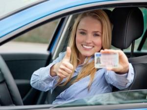 Führerschein gerade bestanden